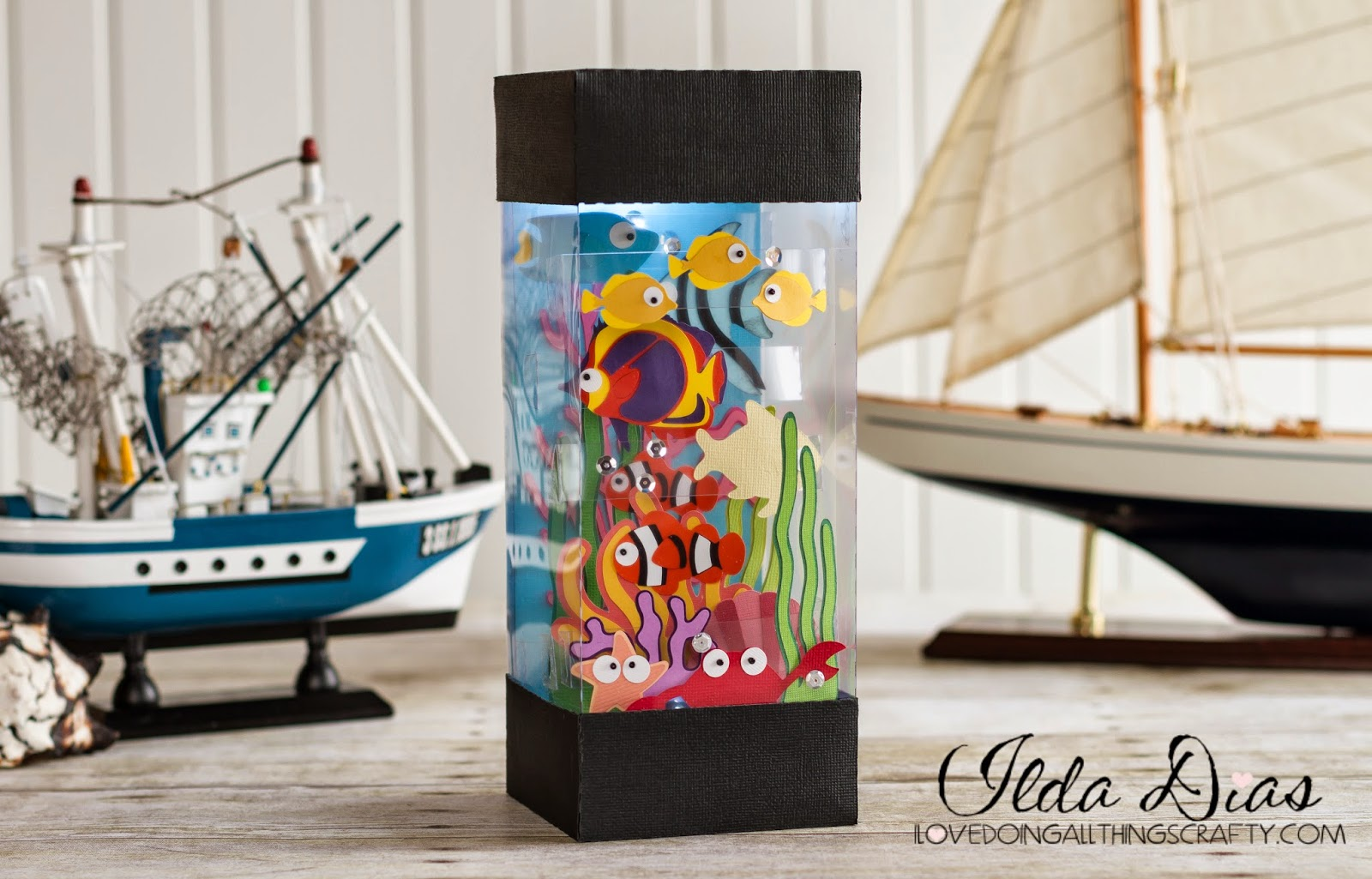 I love doing all things crafty paper tropical fish aquarium for Fish tank stinks