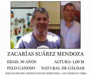 encontrado muerto hombre desaparecido Gáldar Zacarias, Suárez Mendoza
