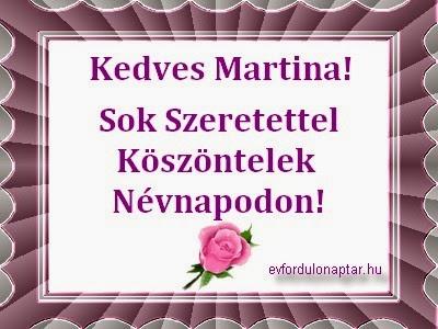 Január 30, Martina névnap
