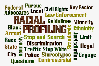 Words associated with racial profile