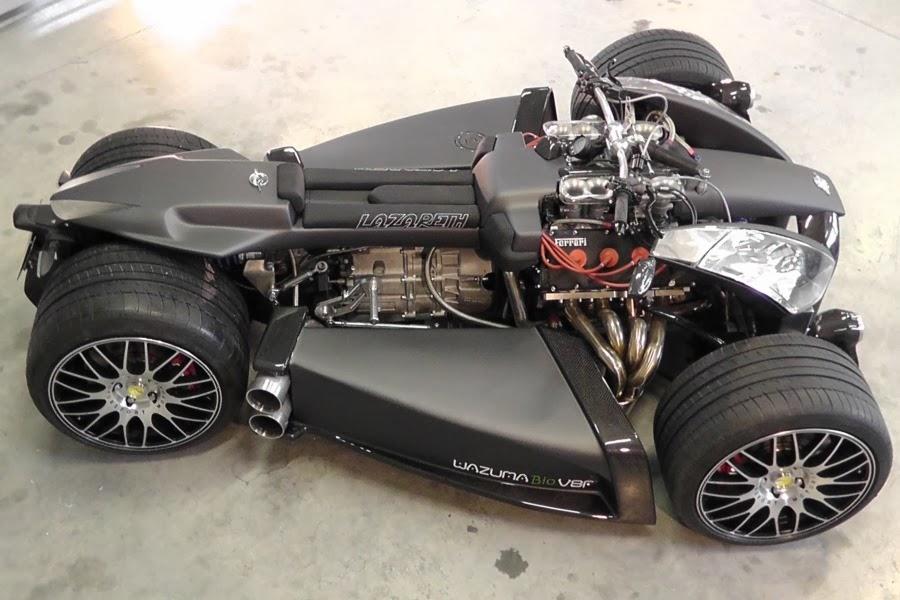 Wazuma  Four Wheel Motorcycle Engined Ferrari