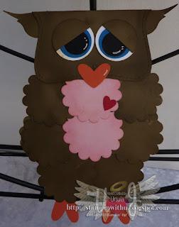 Owl Card Largue Punch Art