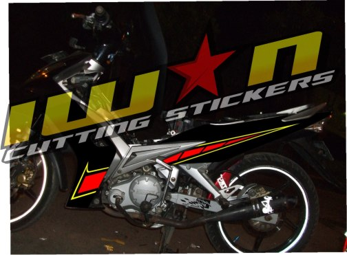Modifikasi Jupiter Mx Cutting Sticker