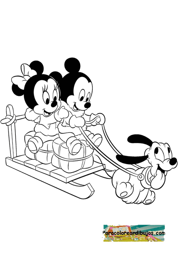 Megan minnie mouse coloring pages