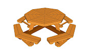 The last design we will show you is about a complex octagon table.