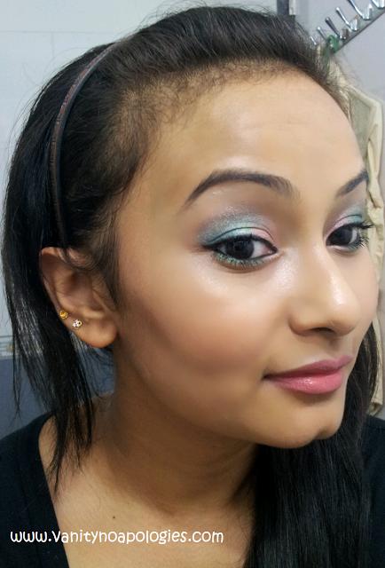day makeup pink