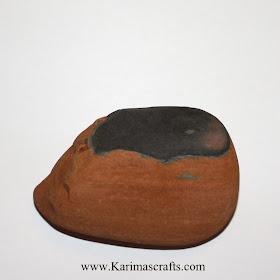 painted hedgehog rock