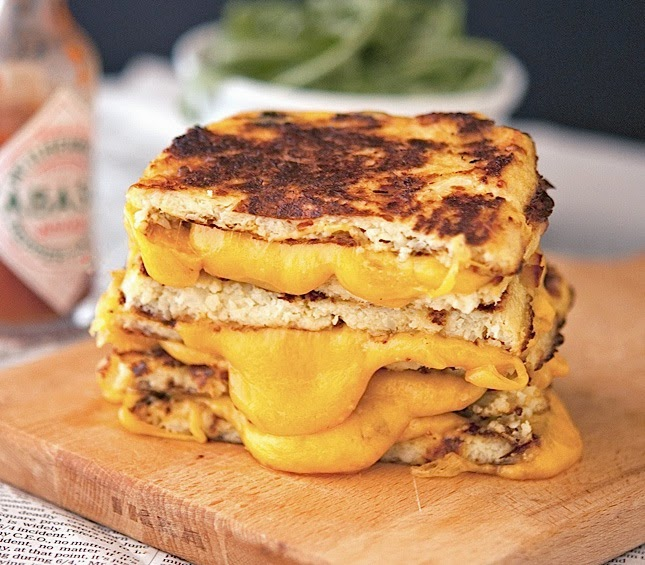 Cauliflower Crust Grilled Cheese