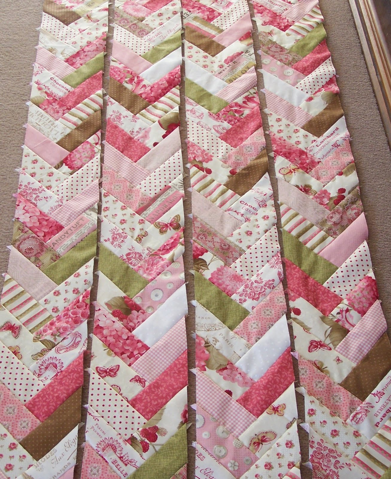 French Braid Quilt Pattern Using Jelly Roll : Ollie & T: french braids