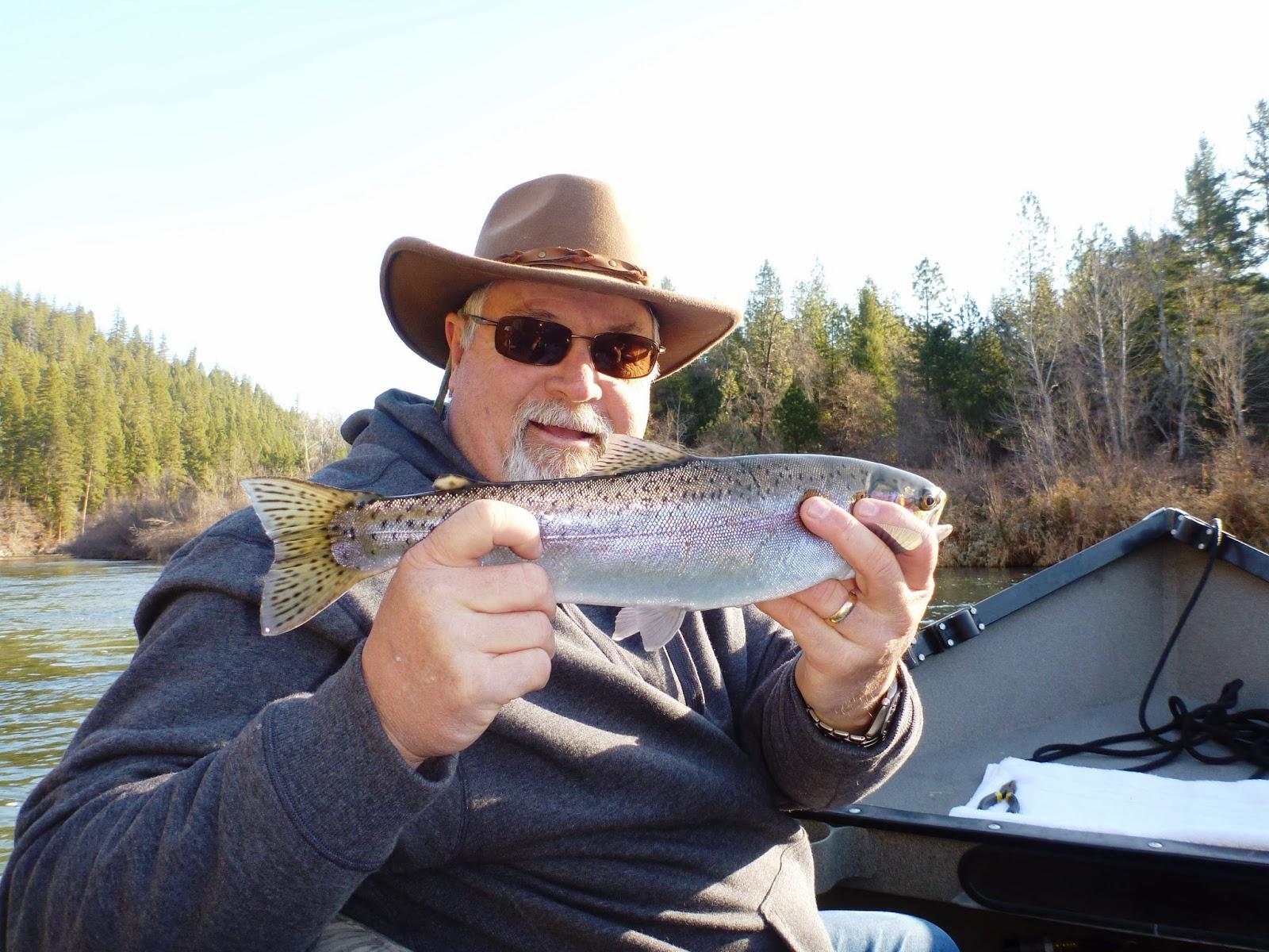 Steelhead fishing on the Klamath River with Ironhead Guide Service.
