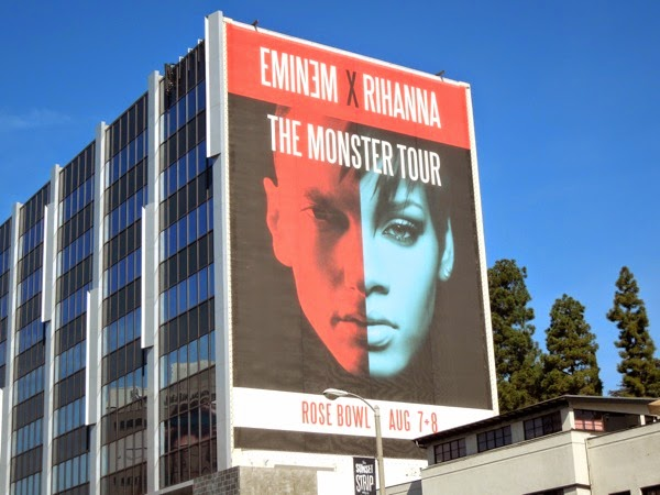 Giant Eminem Rihanna Monster Tour billboard