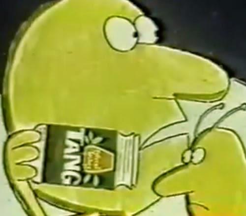 Propaganda americana do Suco Tang, nos anos 60.