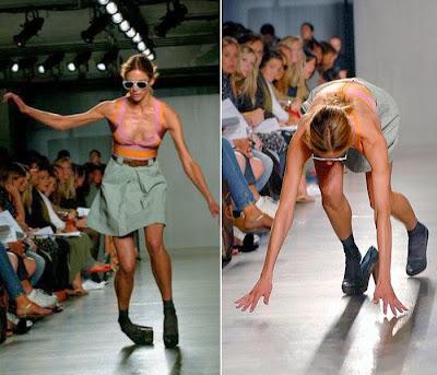 Fotos de caídas de modelos