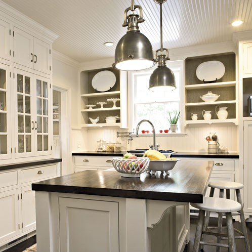 Kitchen Island Designs on Classic Clean White Gets A Few Bowls With Fruit  Less Is More