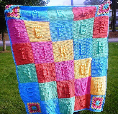 Free Knitting Pattern For Alphabet Blanket : ABC BABY AFGHAN PATTERN Free Baby Patterns