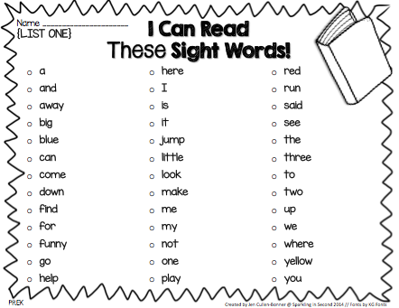 Sight Words List Sight Words Dolche Sight