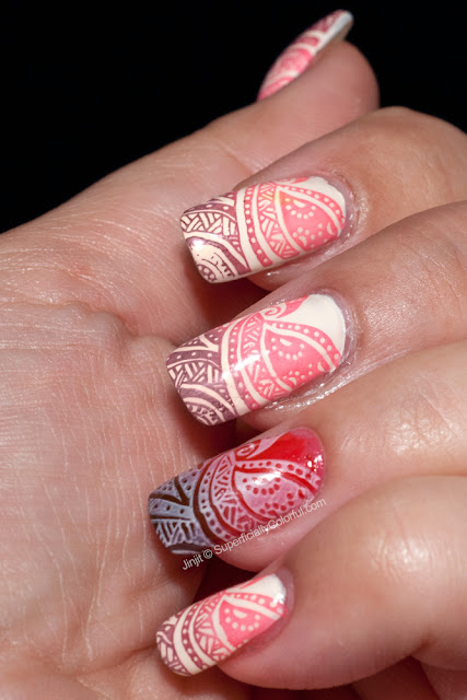 Henna Tattoo nail art Superficially Colorful lacquer