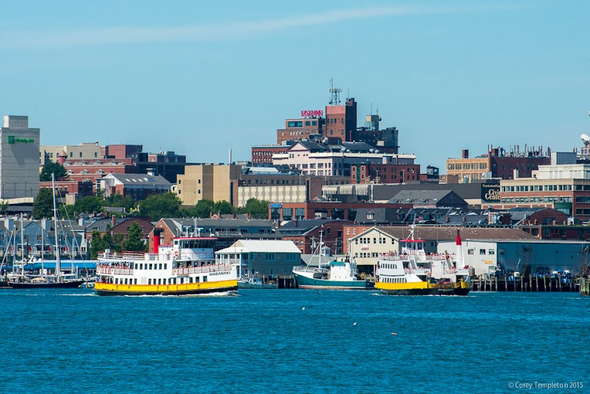 Portland, Maine Summer August 2015 Casco Bay Lines ferries coming and going. Photo by Corey Templeton.