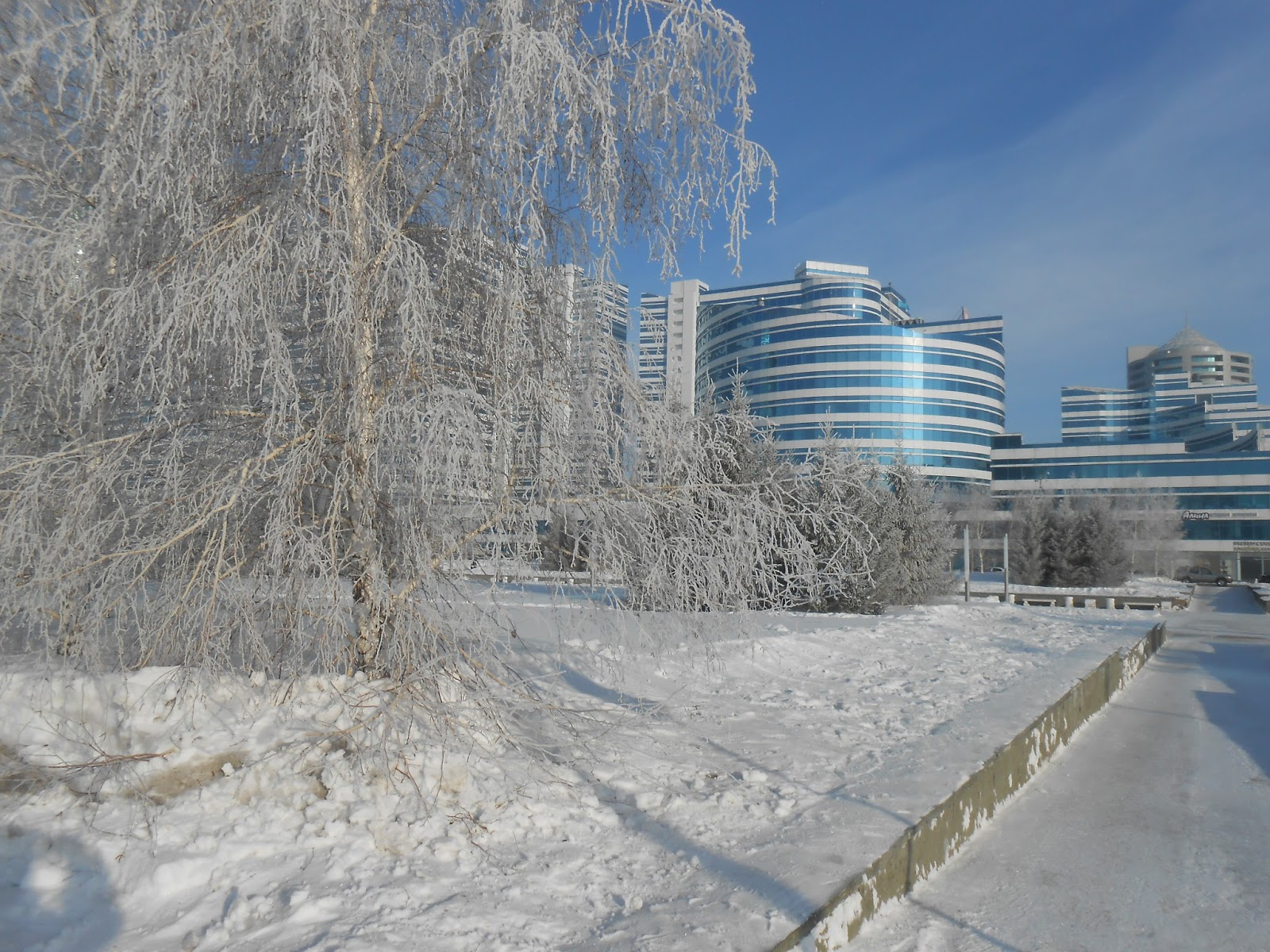 Astana Gardens in Winter