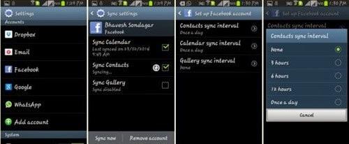 Menghilangkan kontak fb di kontak Android