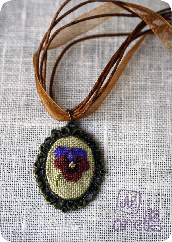 украшение кулон Казуко вышивка Kazuko