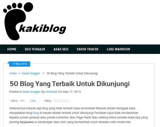 OHBlogger - 50 blog yang terbaik untuk dikunjungi
