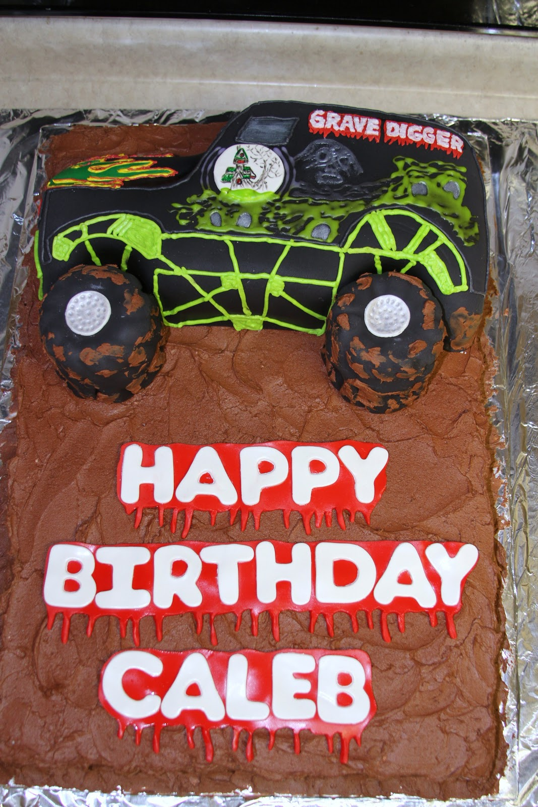 Michele Robinson Cakes: Grave Digger Birthday Cake