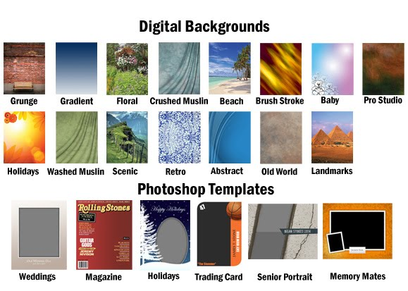 ... provide end-users with 21 FREE Photoshop Templates & Digital Background ...