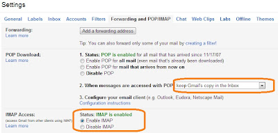 IMAP Setting GMail