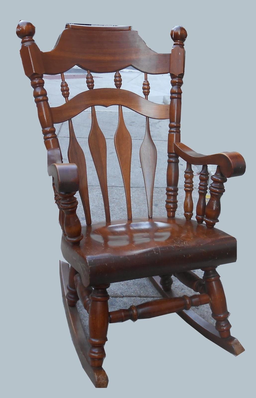 Uhuru Furniture & Collectibles: Heavy Duty Walnut Rocker SOLD