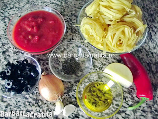 Paste cu sos de rosii ingrediente reteta