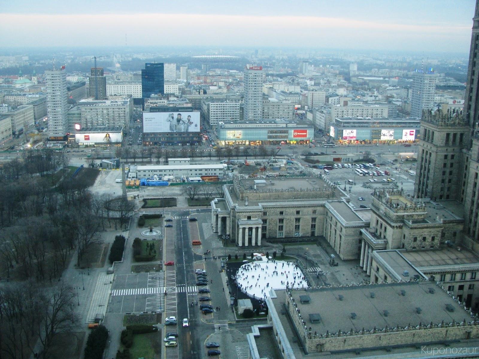 InterContinental Warszawa widok na lodowisko