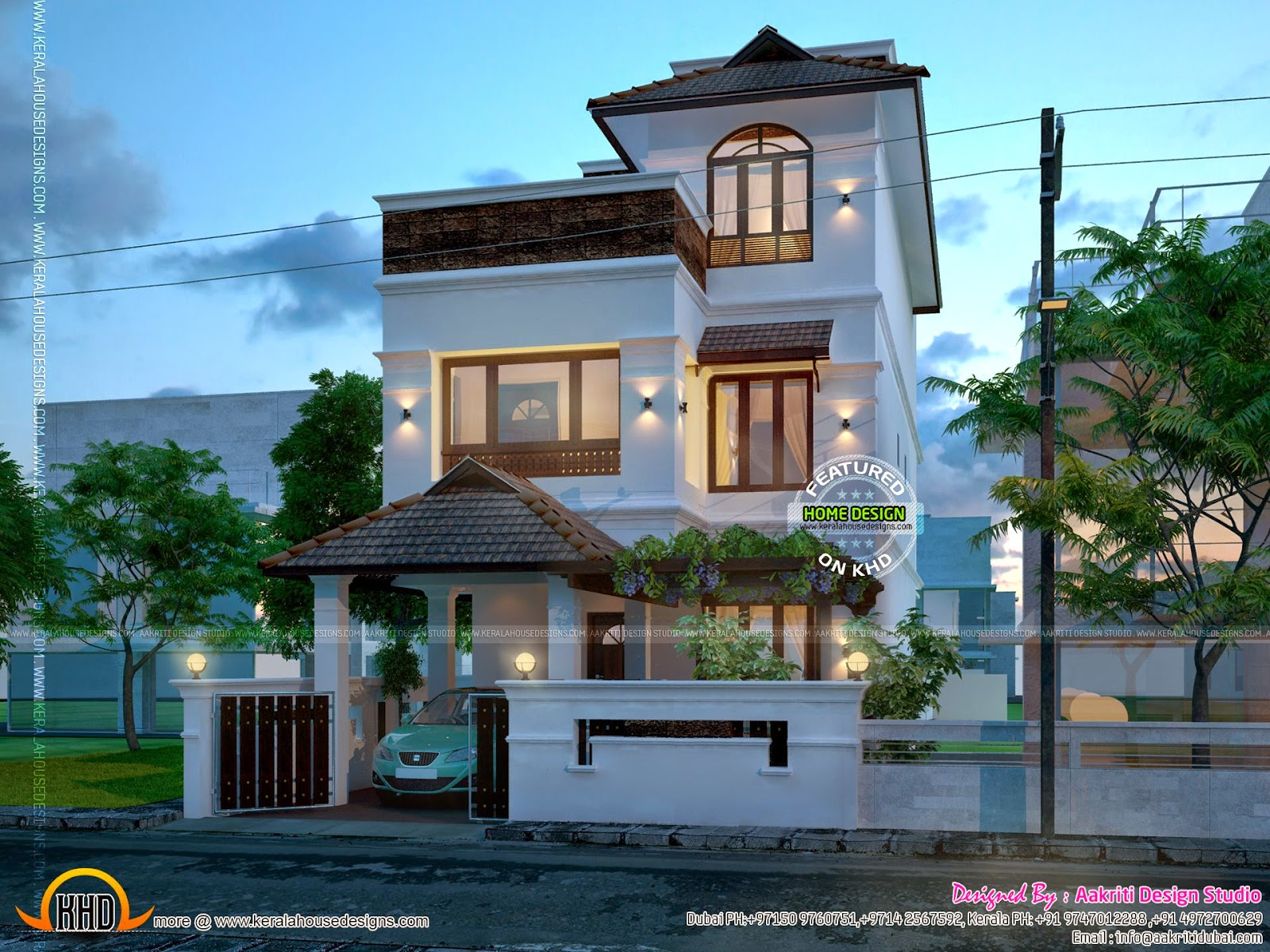 2014 kerala home design and floor plans for New style house plans