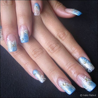 Airbrushed Nail Art