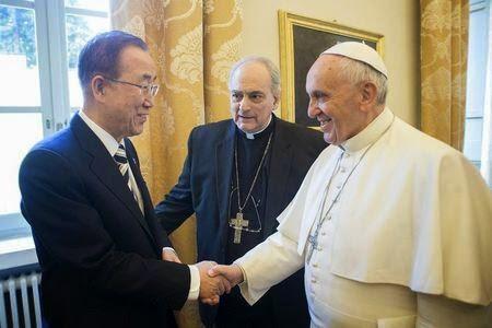 Pope Francis & Ban Ki-moon