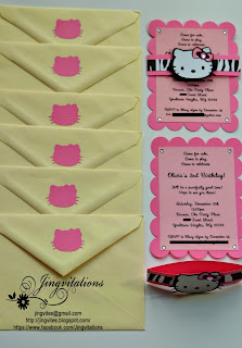 hello kitty birthday party invitations in silhouette cameo