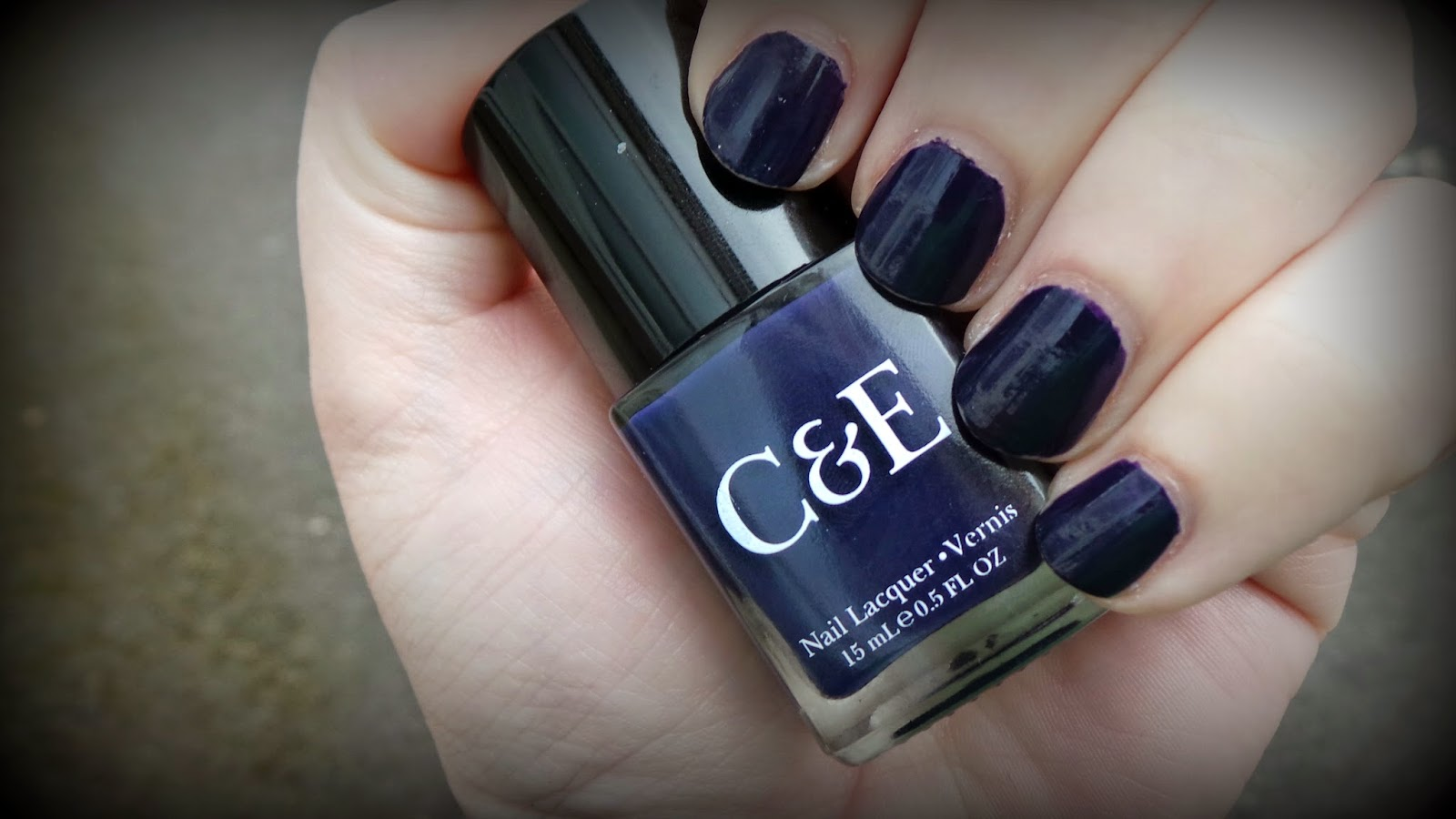 Dark Blue nail polish