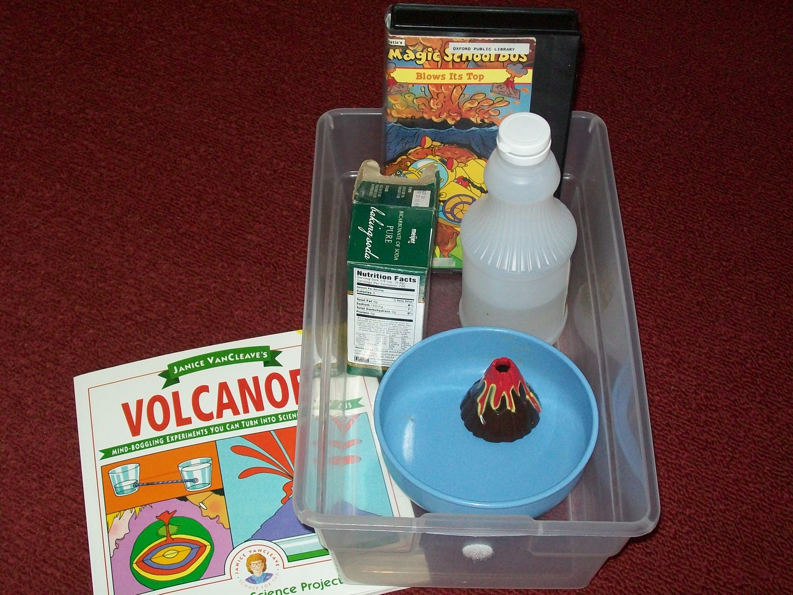 how to build a volcano for school