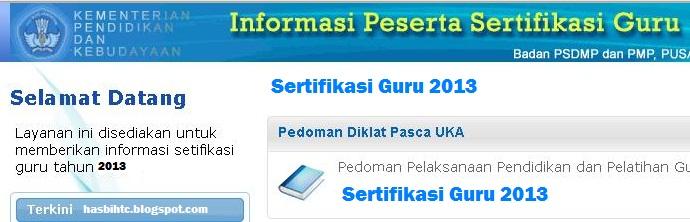 peserta sertifikasi guru 2013 informasi calon peserta sertifikasi guru
