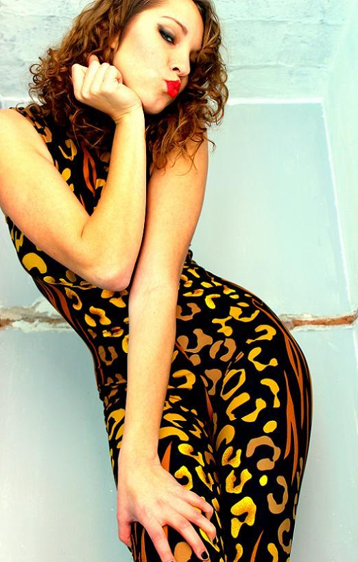 vestido tigre vintage