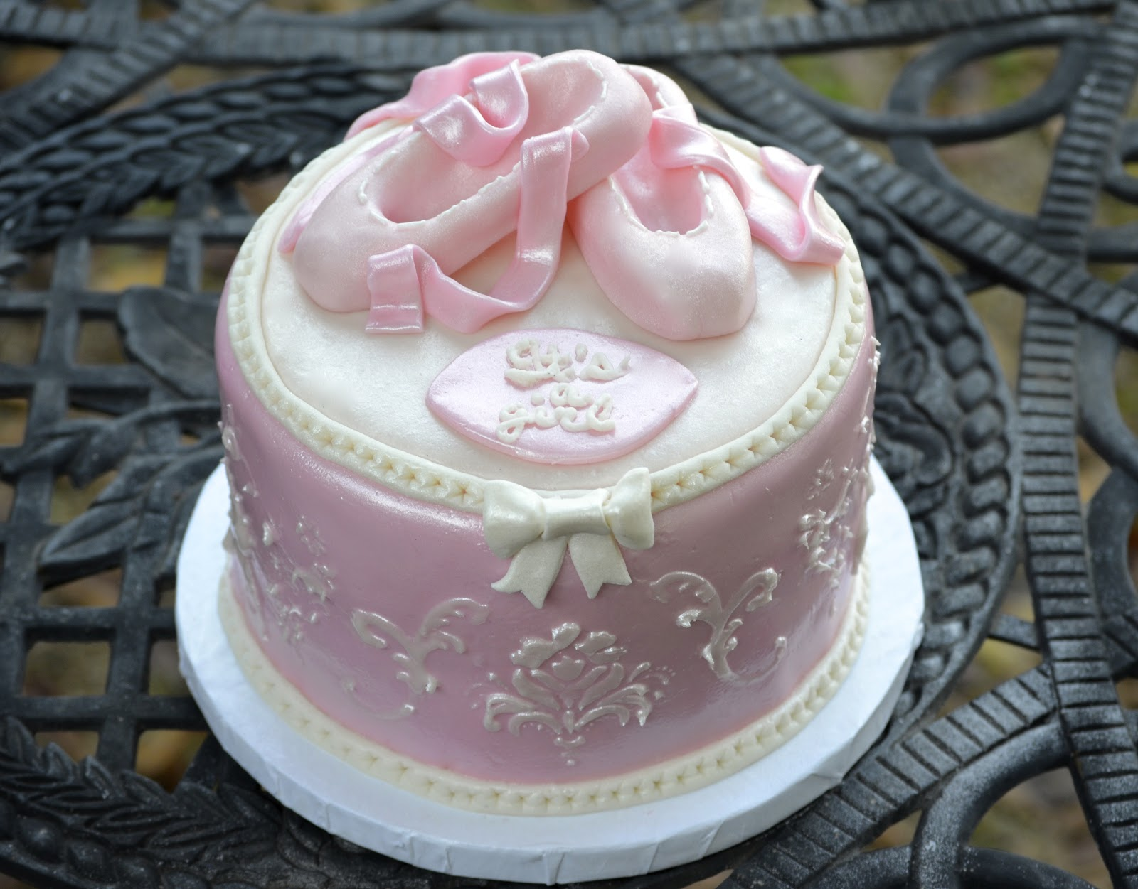 traylor made treats ballerina baby shower cake
