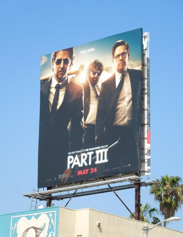 Hangover 3 movie billboard