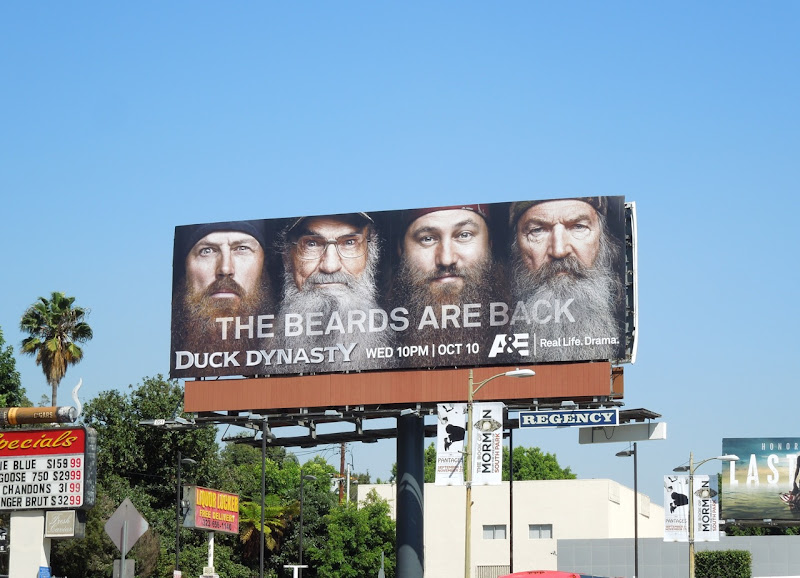 Duck Dynasty Beards are back season 2 billboard