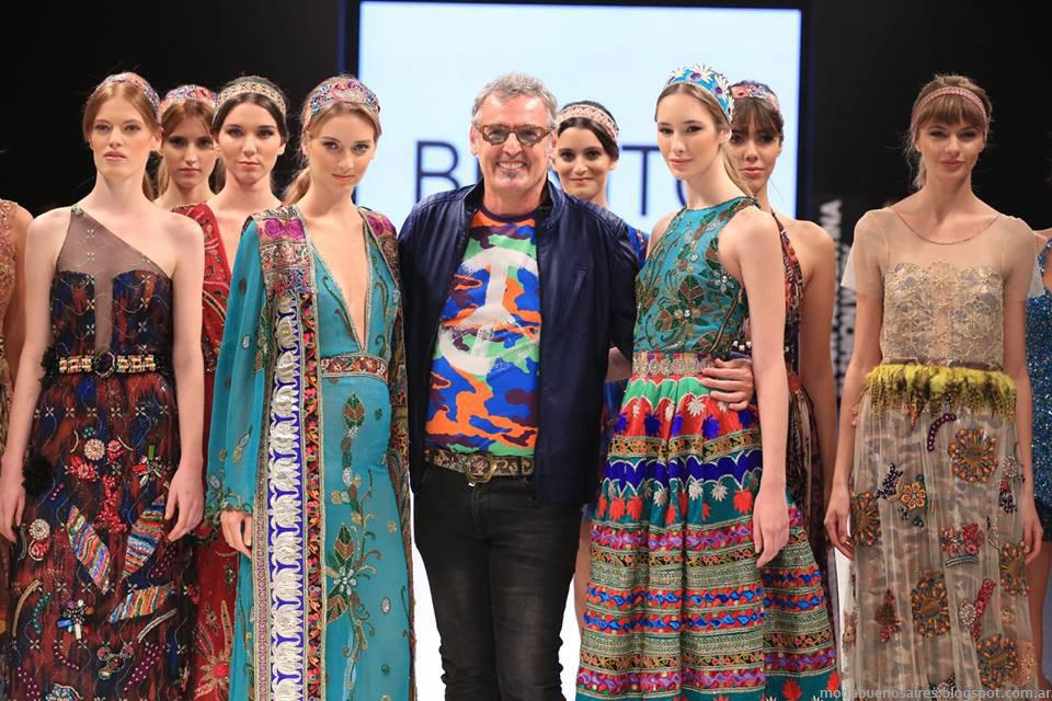 Cierre presentación Argentina Fashion Week, Monos y Vestidos de fiesta otoño invierno 2015 Benito Fernandez.