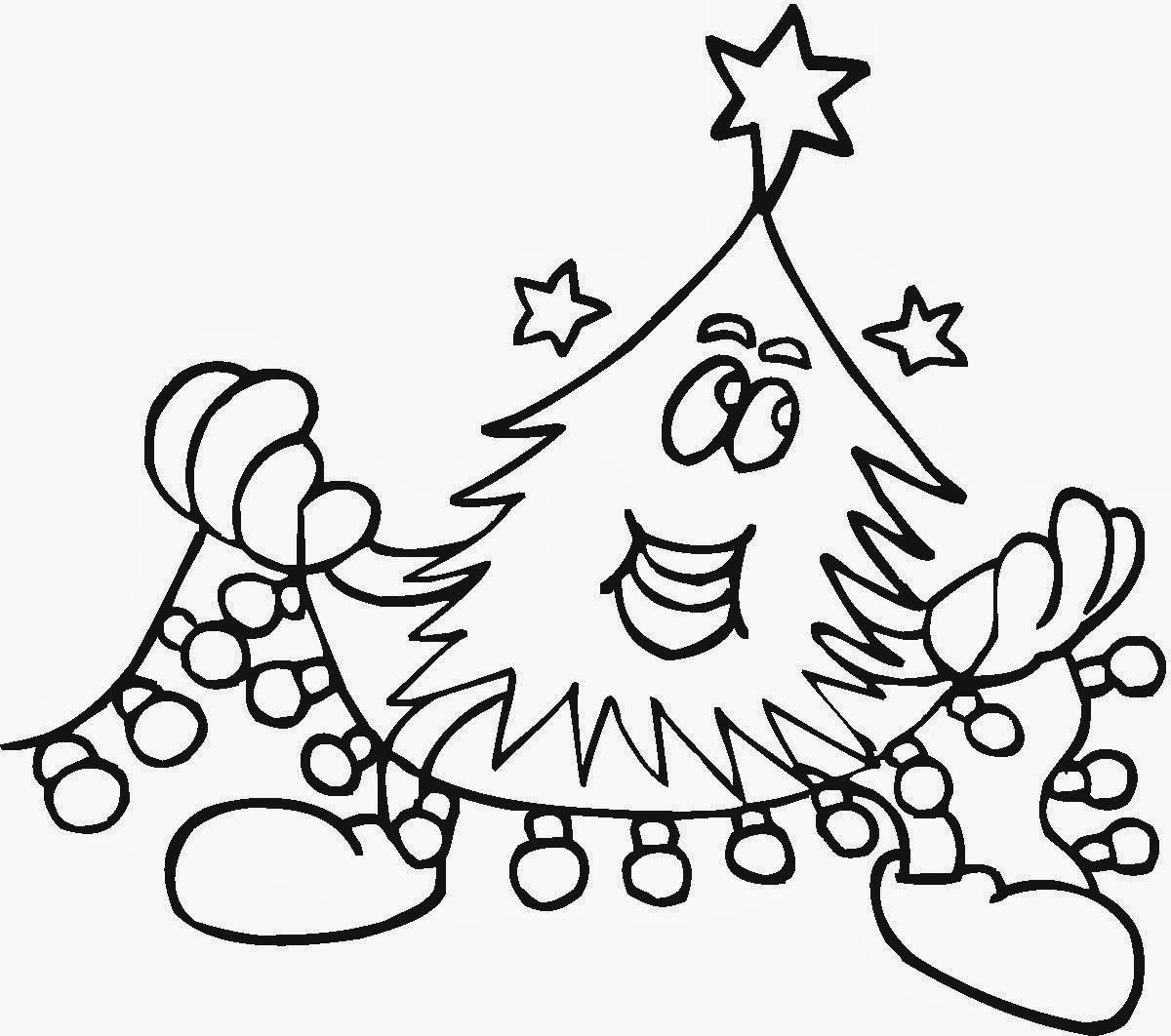 Banco de Imagenes y fotos gratis: Arbol de Navidad para Colorear ...