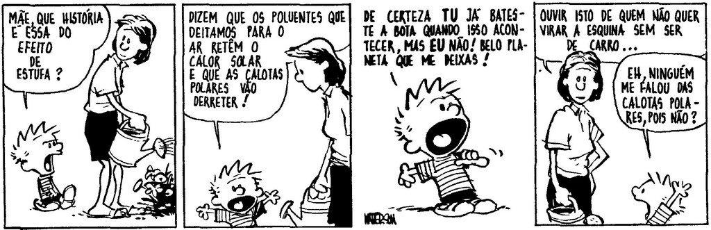 Calvin - Efeito estufa
