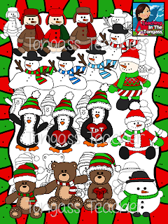 http://www.teacherspayteachers.com/Product/Winter-Snow-Buddies-Clipart-Bundle-999140