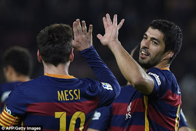 VIDEO : 7 Gol Suares dan Messi ke Gawang Valensia
