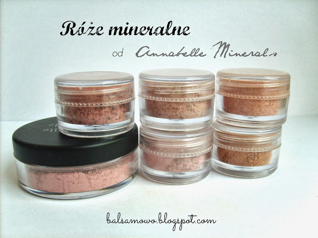 Róże mineralne Annabelle Minerals kolory