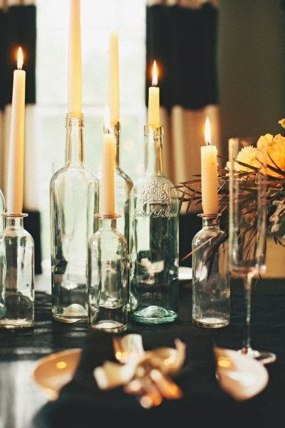botellas con velas